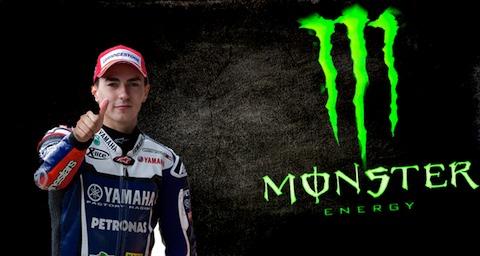 Jorge Lorenzo patrocinado por Monster